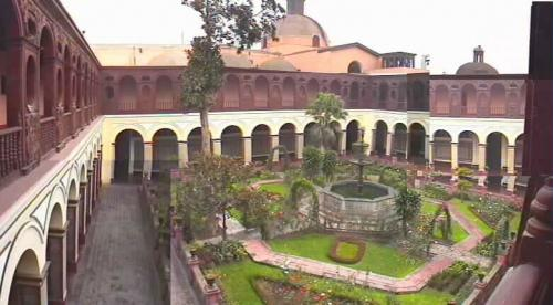 Cloister in Dominican priory in Lima, Peru