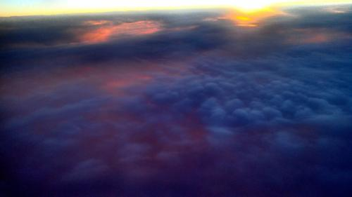 sunset from the airplane