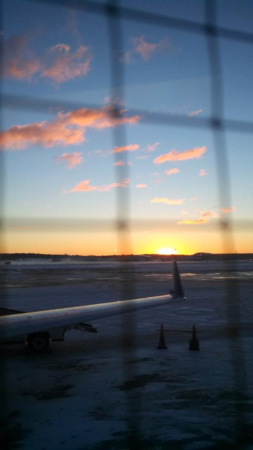 Sunrise from the jetway